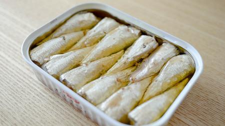Canned sardines Фото со стока