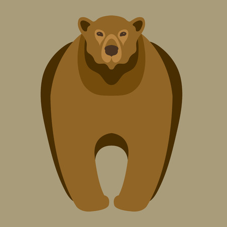 vulnerable: bear adult illustration style Flat Illustration