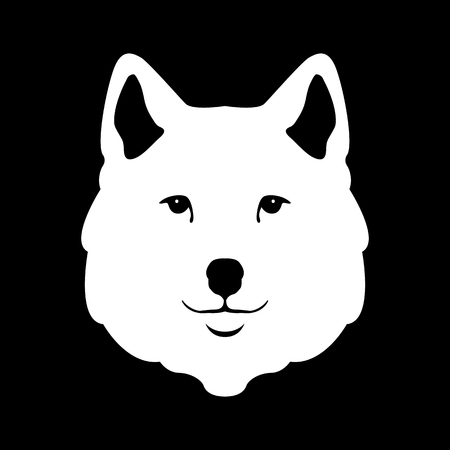 cruel: Wolf head illustration stylized style flat