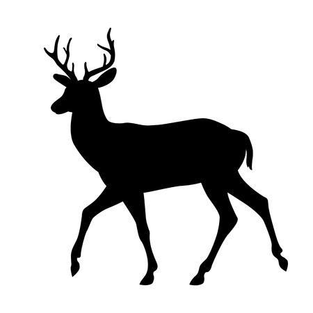deer illustration silhouette black side view