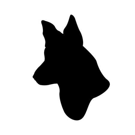 shepard: German Shepherd dog head realistic Illustration