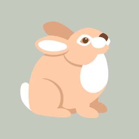 estilo de ilustración vectorial de conejo plana Ilustración de vector