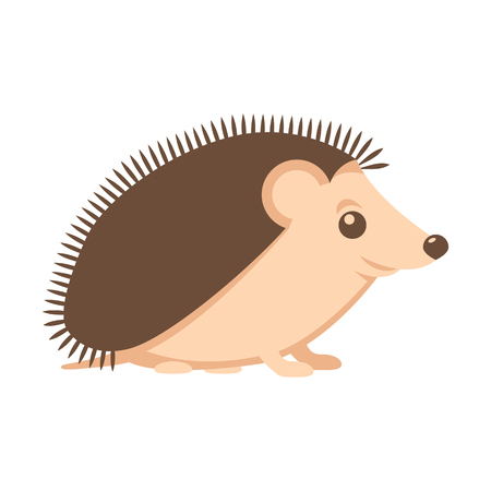 spiked: hedgehog vector illustration style Flat