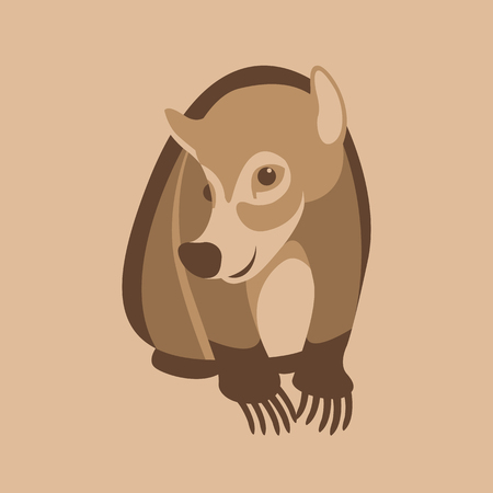 Coati vector illustration style Flat front