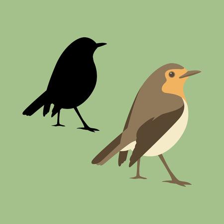 robin illustration style flat side