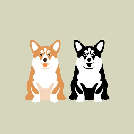 Corgi vector illustration
