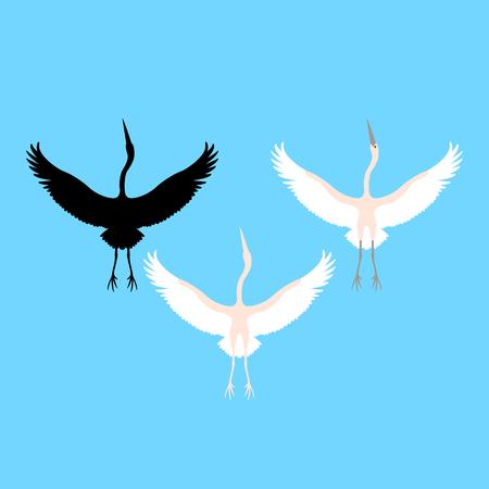 Heron vector illustration style Çizim