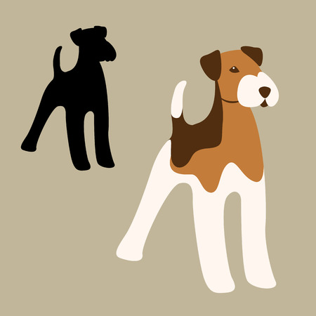 Terrier dog vector illustration style Flat Illustration