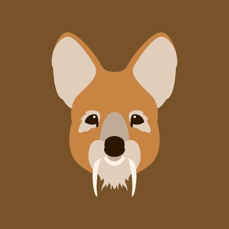 Tufted deer face Illusztráció