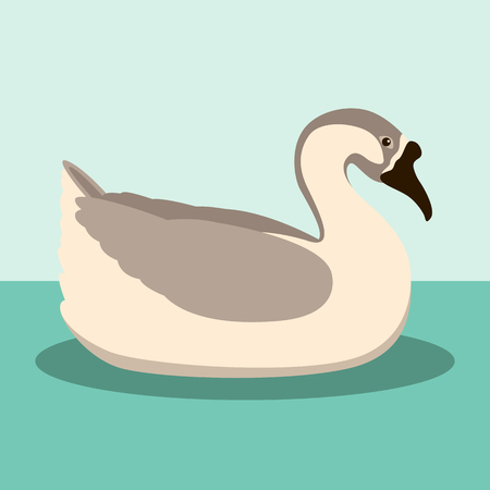 Brown chinese goose vector illustration style flat silhouette black Illustration