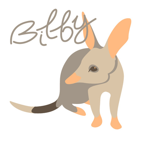 Bilby ant eater illustration style flat