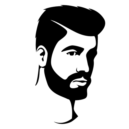 hipster men head face vector illustration Illustration