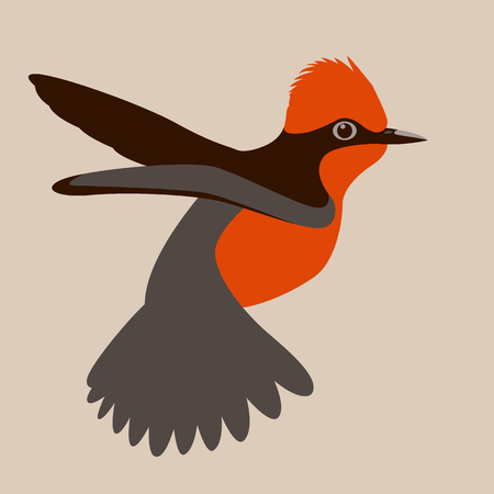 Cardinal bird vector illustration flat style. Иллюстрация