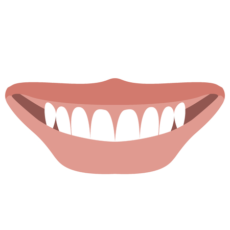 lips smile vector illustration flat style  front view