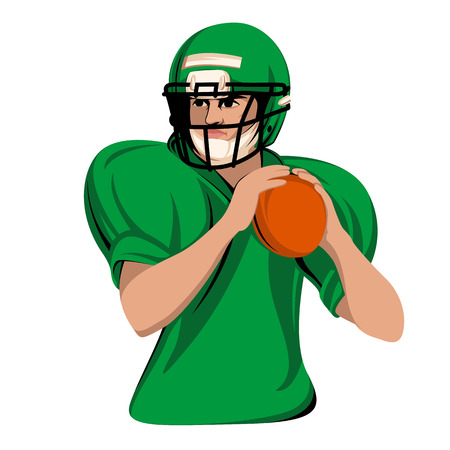 Football Player face vector illustration flat style front view Stock Vector - 91558585