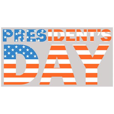 president day   usa flag  vector illustration flat style  Illustration