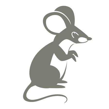 mouse  cartoon vector illustration flat style   profile side