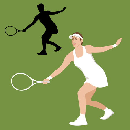Tennis player vector illustration flat style front side