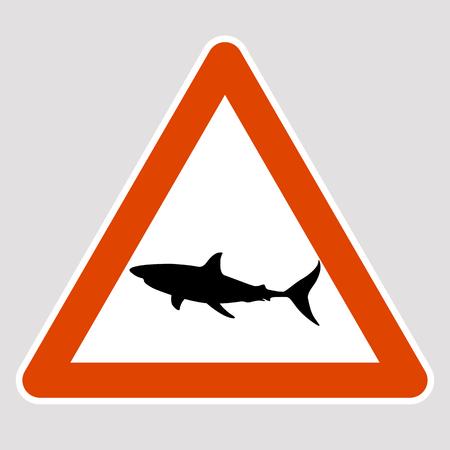 A shark black silhouette road sign vector illustration profile