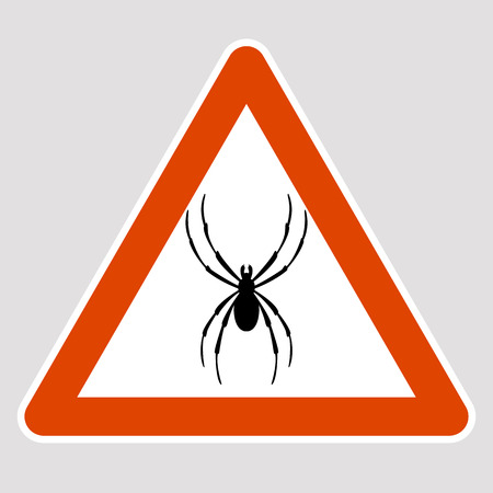 A spider black silhouette road sign vector illustration profile  イラスト・ベクター素材