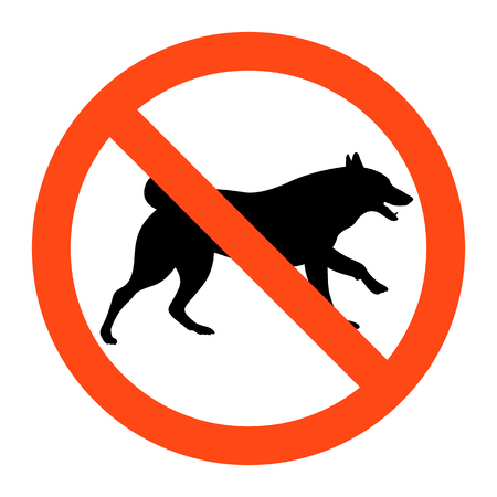 warning no dogs sign ,vector illustration on white background Illustration