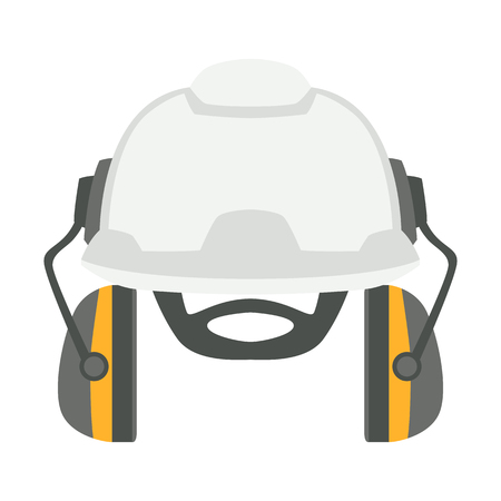 protective helmet vector illustration flat style front side