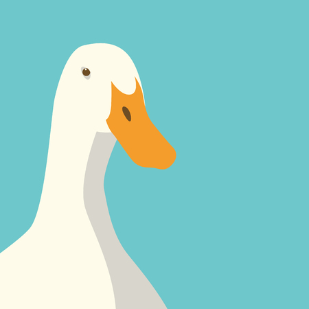 duck head face vector illustration flat style Illustration