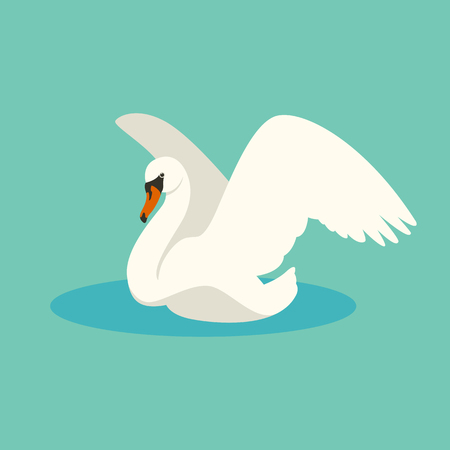 bird swan vector illustration