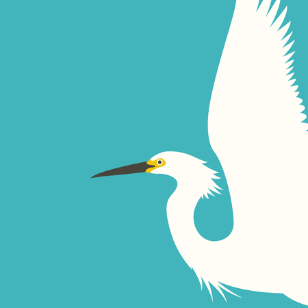 A bird heron vector illustration profile side flat style