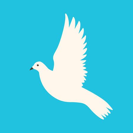 bird  dove  vector illustration flat style profile side