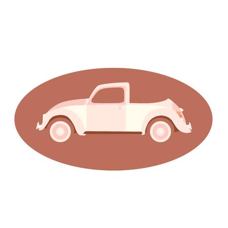 car vintage vector illustration flat style profile side