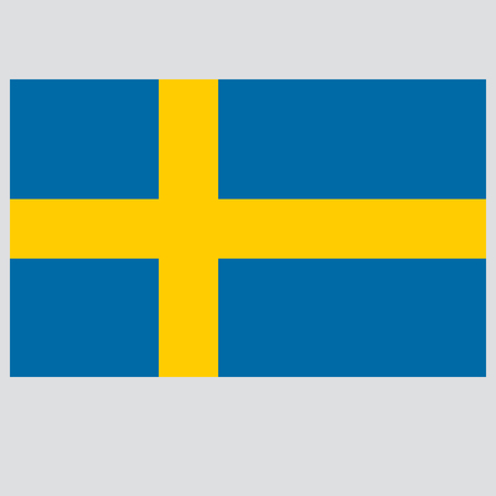 flag of Sweden  vector illustration on gray background Vettoriali
