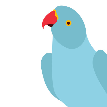 bird parrot  vector illustration flat style profile side