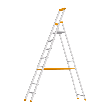 step ladder vector illustration flat style profile side