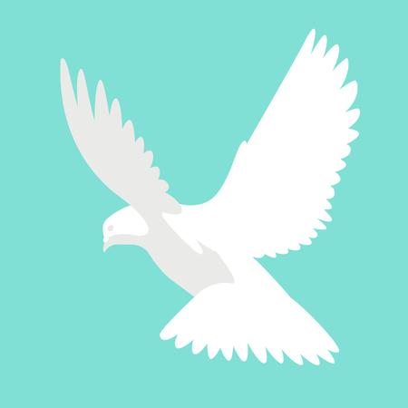 bird dove vector illustration flat style profile side Ilustracje wektorowe