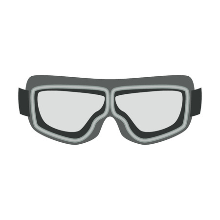 motorcycle protective goggles   vintage flat style vector illustration 矢量图像