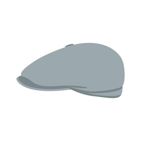 grey cap  vector illustration flat style profile side Ilustrace