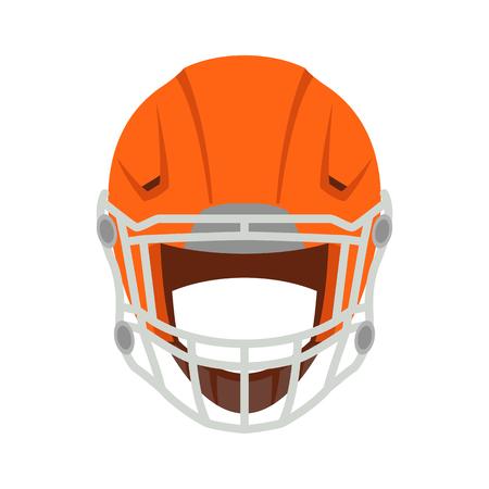 casco da football rosso illustrazione vettoriale in stile piatto lato anteriore
