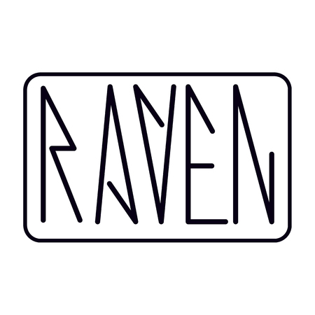 logo raven vector illustration  text