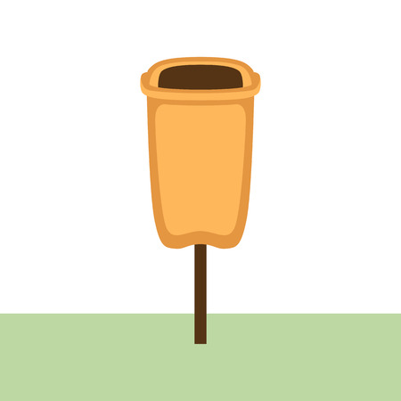 park trash vector illustration flat style Иллюстрация