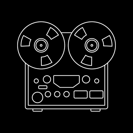 reel recorder vector illustration lining draw  front view