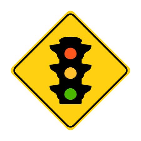 road sign trafic liht vector illustration  flat