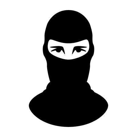terrorist mask,vector illustration.flat style,front view