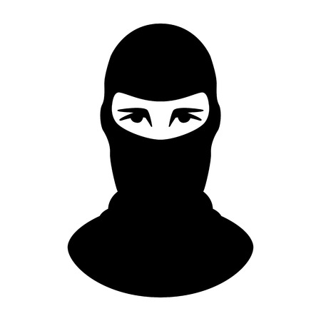 terrorist mask,vector illustration.flat style,front view