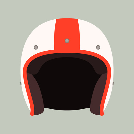 classic helmet motorcyclist, vector illustration.flat style,front view