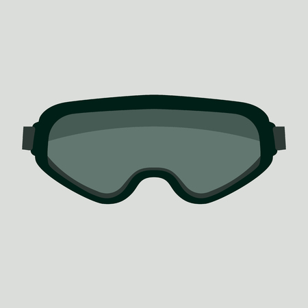 goggles, vector illustration.flat style,front view