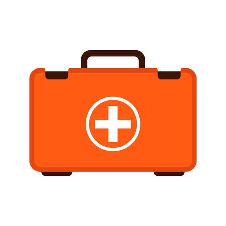 first aid case ,vector illustration ,flat style