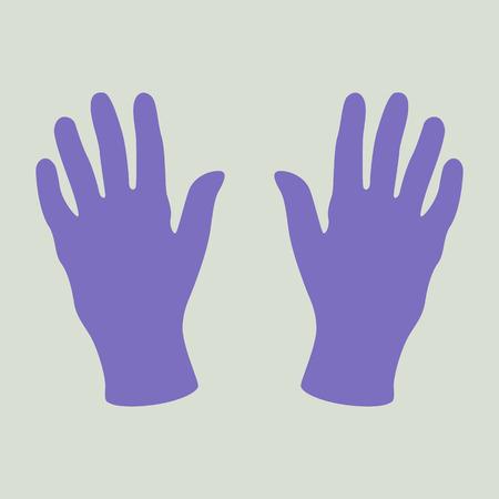 medical gloves, vector illustration ,flat style set Ilustração