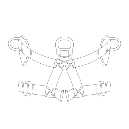 safety belt, vector illustration , lining draw front view Vectores