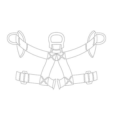 safety belt, vector illustration , lining draw front view Ilustração